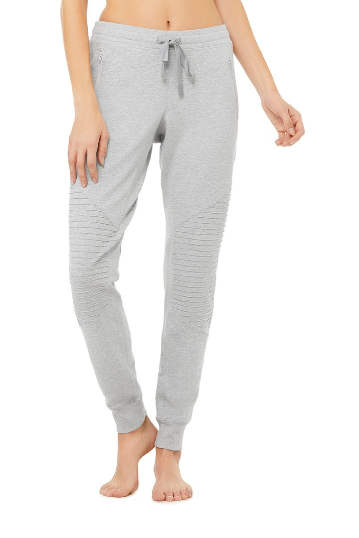 Urban Moto Sweatpant - Dove Grey Heather by Alo Yoga, available on aloyoga.com for $98 Kendall Jenner Pants SIMILAR PRODUCT