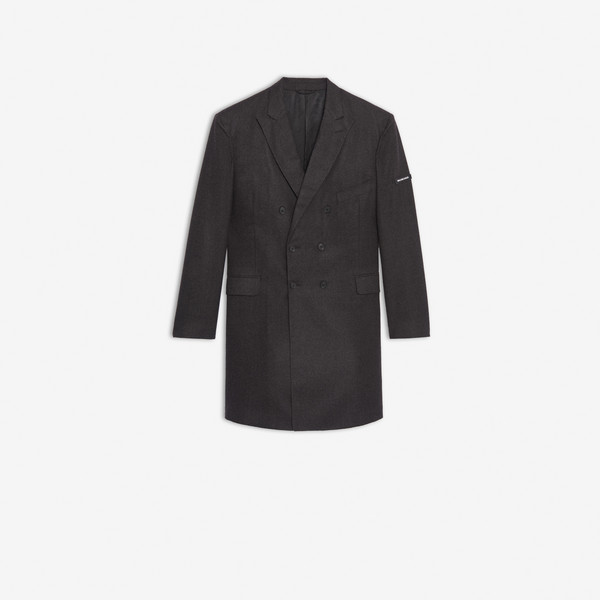 Washed Double Breasted Coat Anthracite by Balenciaga, available on balenciaga.com for $4800 Kendall Jenner Outerwear SIMILAR PRODUCT