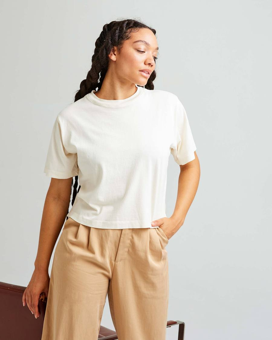 Women's Relaxed Crop Tee by Richer-Poorer, available on richer-poorer.com for $38 Kendall Jenner Top Exact Product