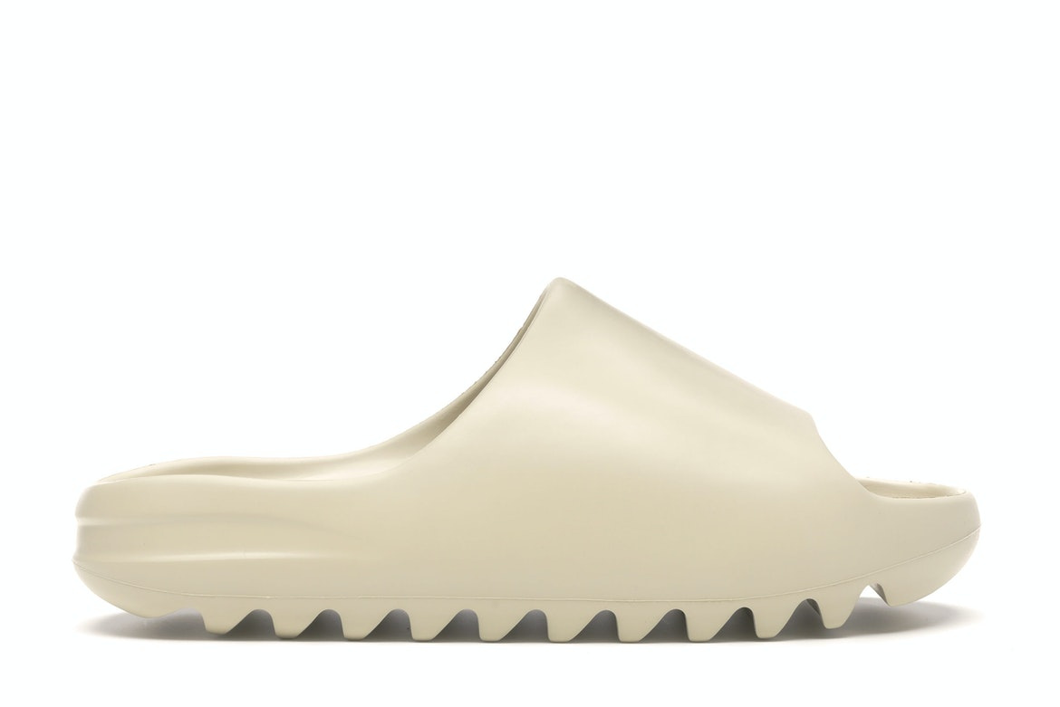 Yeezy Slide Bone by Adidas x Yeezy, available on stockx.com for $190 Kendall Jenner Shoes Exact Product