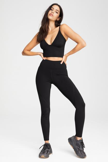 bonded legging by Good American, available on goodamerican.com for $97 Kendall Jenner Pants Exact Product