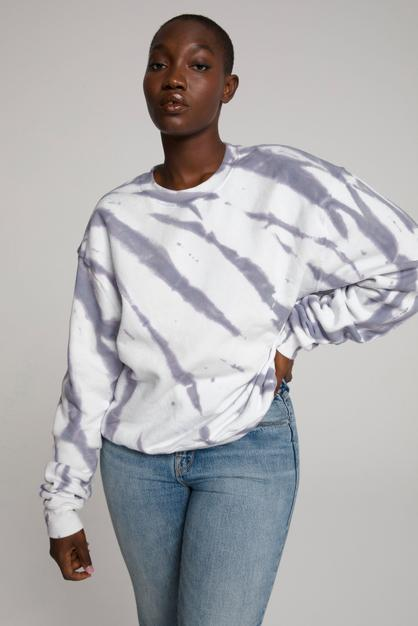 boyfriend sweatshirt by Good American, available on goodamerican.com for $87 Kendall Jenner Top SIMILAR PRODUCT