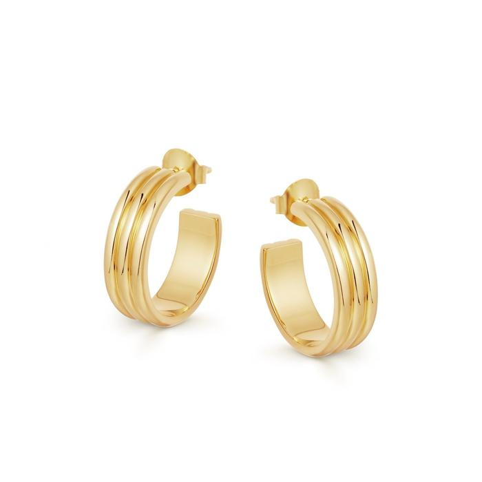 gold ancien hoops by Missoma, available on missoma.com for $127 Kendall Jenner Jewellery Exact Product