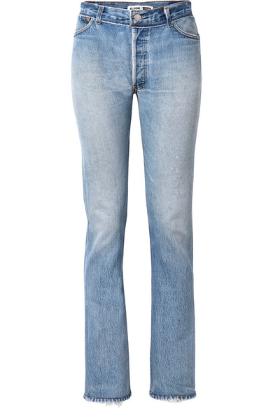 high rise straight leg jeans by Re-Done, available on net-a-porter.com for $270 Kendall Jenner Pants Exact Product