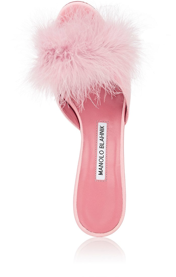 lima slide sandals by Manolo Blahnik, available on barneys.com for $449 Kendall Jenner Shoes Exact Product