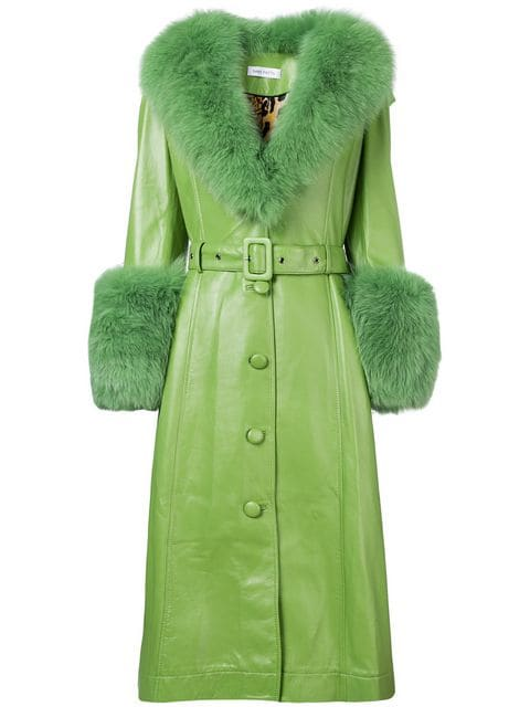 long belted coat by Saks Potts, available on farfetch.com Kendall Jenner Outerwear Exact Product