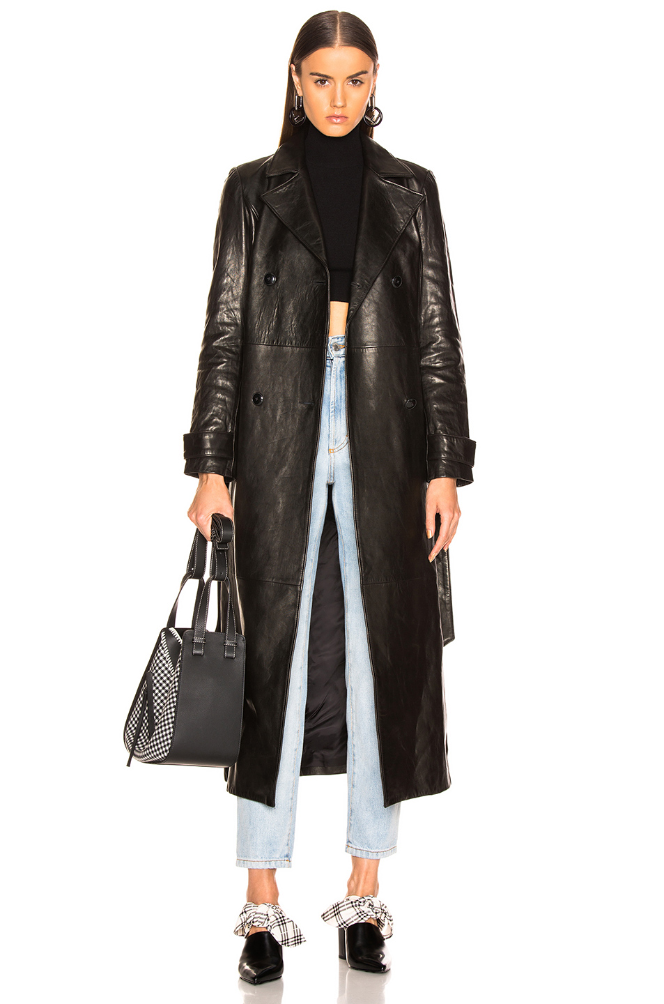 trench coat by Frame, available on fwrd.com for $2495 Kendall Jenner Outerwear Exact Product