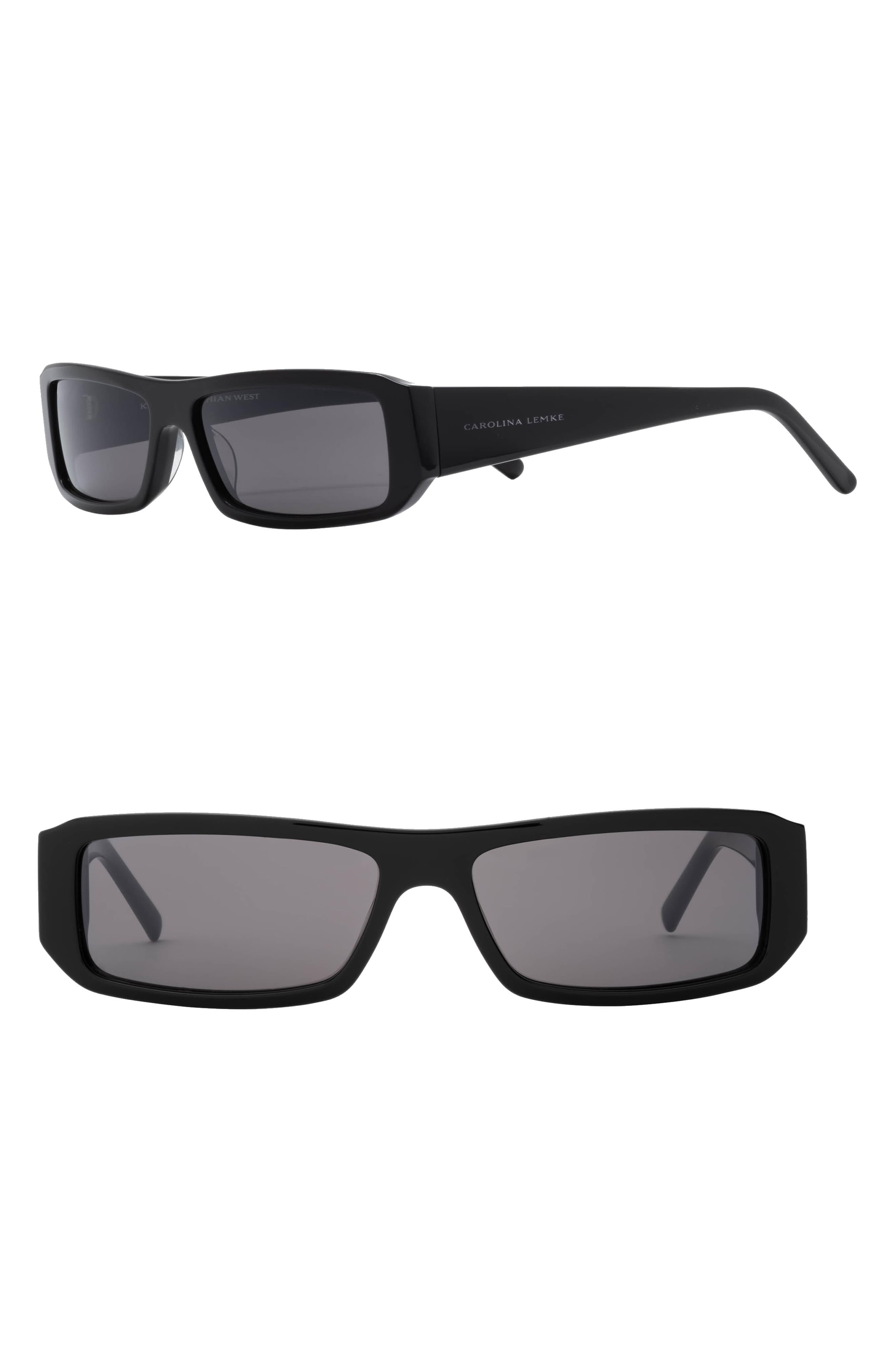 x KKW Dusk 55mm Rectangle Sunglasses by Carolina Lemke, available on nordstrom.com for $90 Kendall Jenner Sunglasses Exact Product