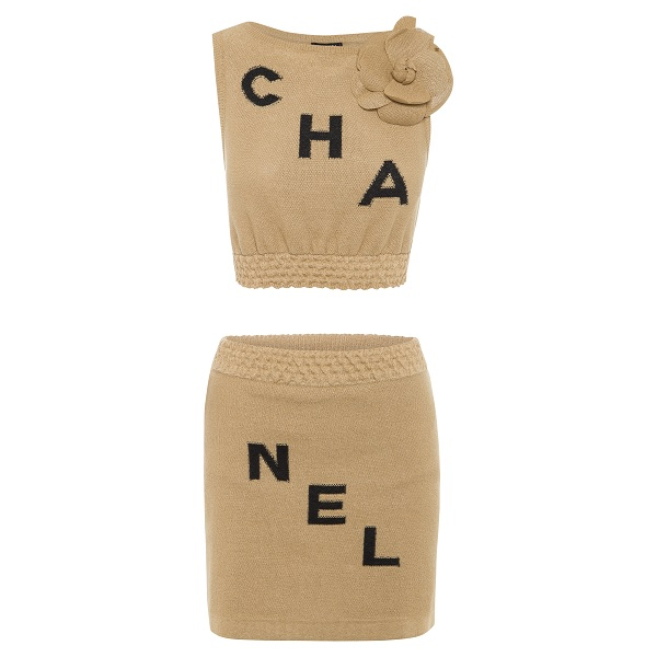 CHANEL TWO PIECE ENSEMBLE & CAMELLIA by Chanel, available on labellovedresshire.com.au for $799 Khloe Kardashian Top Exact Product