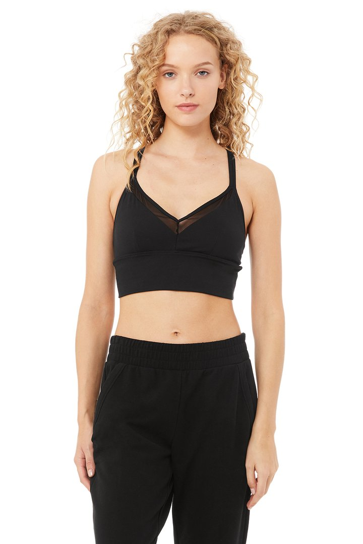 Sneak Long Bra by Alo Yoga, available on aloyoga.com for $62 Khloe Kardashian Top SIMILAR PRODUCT