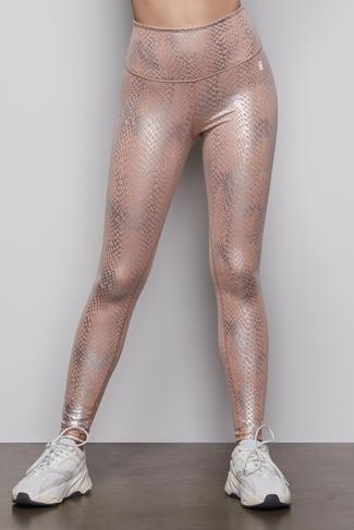 THE FOIL LEGGING   QUARTZ SNAKE001 by Good American, available on goodamerican.com for $119 Khloe Kardashian Pants SIMILAR PRODUCT