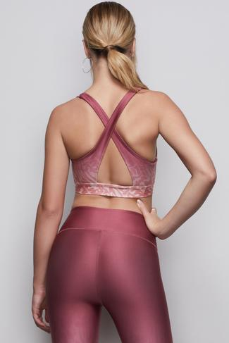 THE OMBRE CROSS-BACK BRA | WILD HIBISCUS001 by Good American, available on goodamerican.com for $69 Khloe Kardashian Top SIMILAR PRODUCT