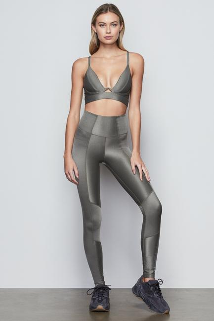 THE SHINY RIB LEGGING by Good American, available on goodamerican.com for $99 Khloe Kardashian Pants Exact Product