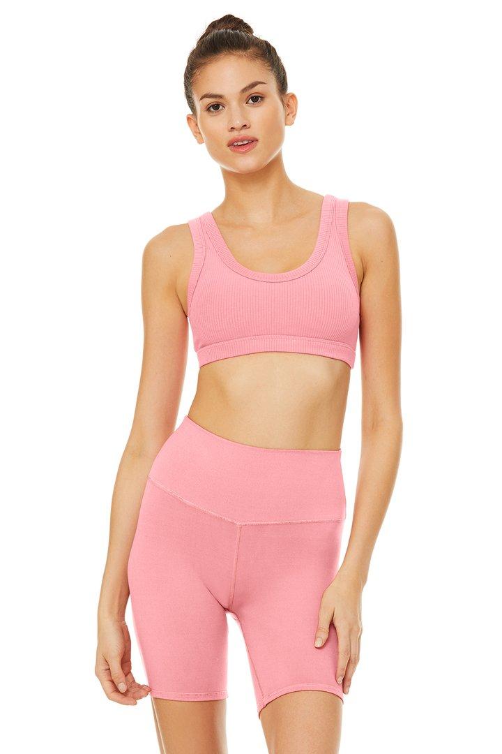 Wellness Bra - Macaron Pink by Alo Yoga, available on aloyoga.com for $62 Khloe Kardashian Top SIMILAR PRODUCT