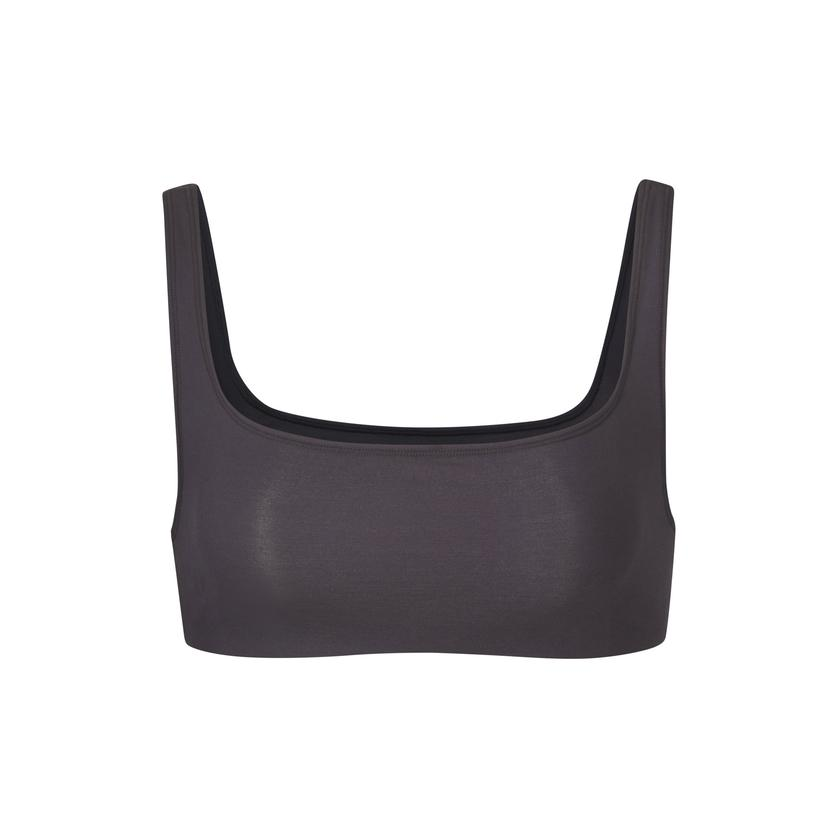 BODY BASICS WIDE NECK BRALETTE by Skims, available on skims.com for $38 Kim Kardashian Top SIMILAR PRODUCT