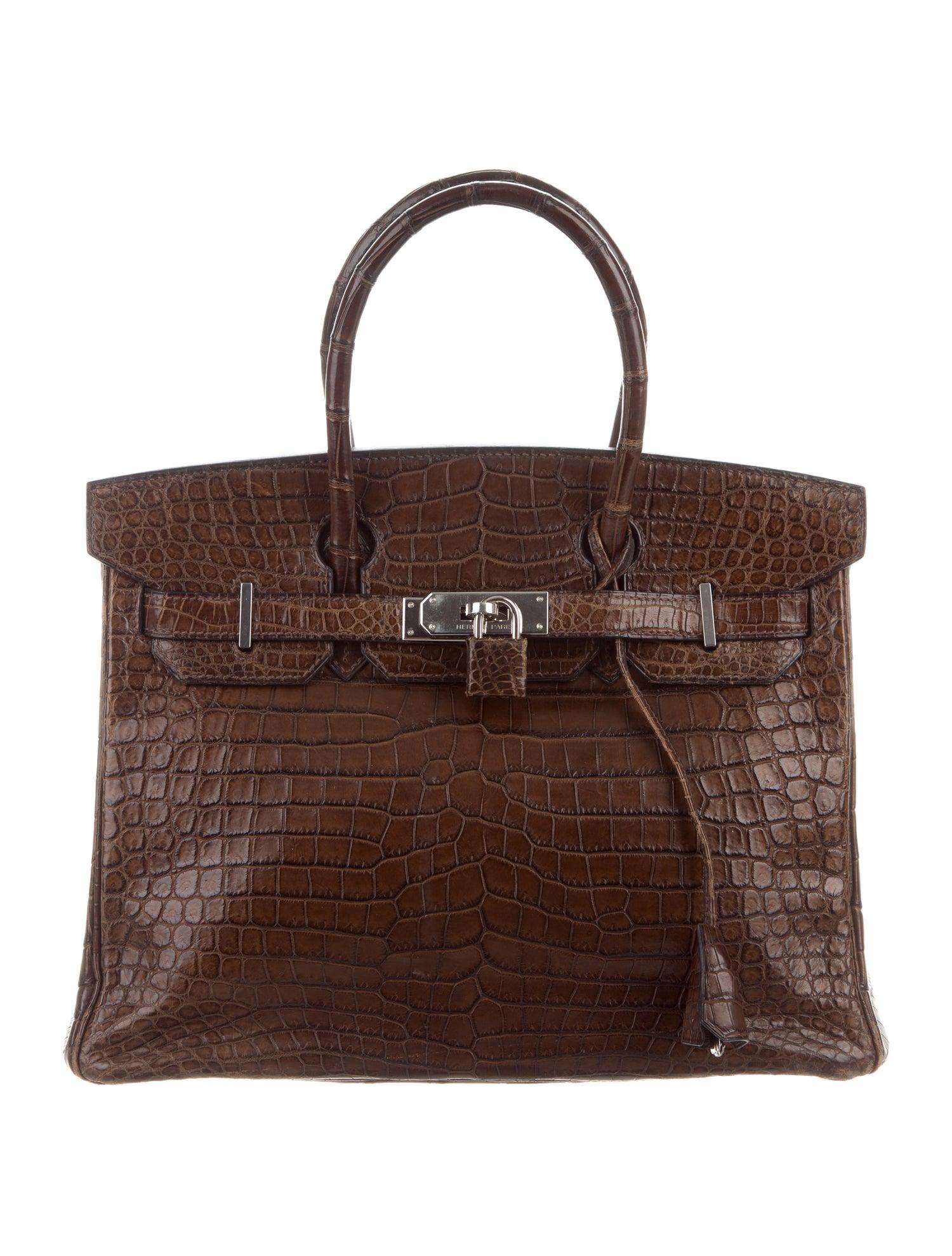 Birkin Bag by Hermes, available on therealreal.com for $25000 Kim Kardashian Bags Exact Product