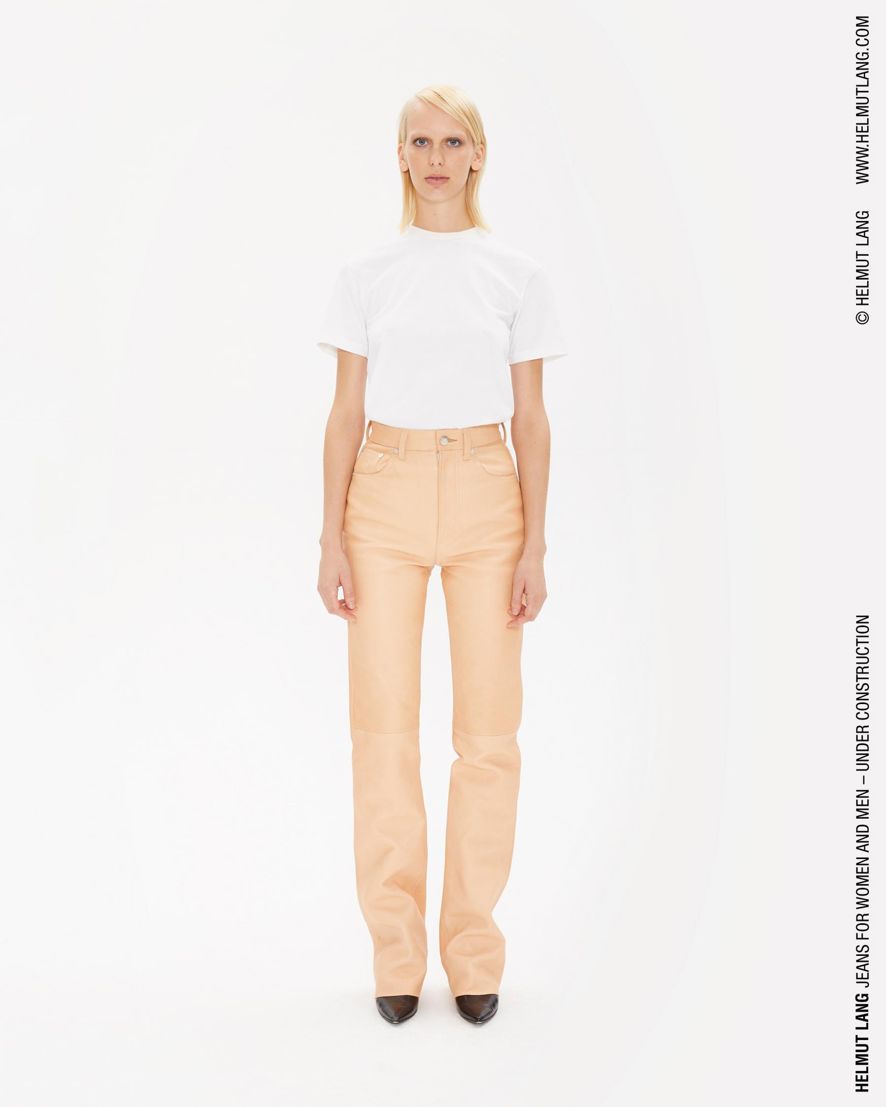 Bootcut Leather Pants by Helmut Lang, available on helmutlang.com for $725 Kim Kardashian Pants Exact Product