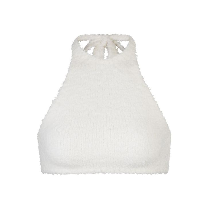 COZY KNIT HALTER BRA TOP by SKIMS, available on skims.com for $51 Kim Kardashian Top Exact Product