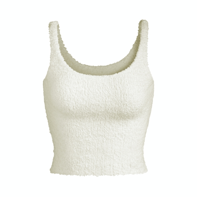 COZY KNIT TANK by Skims, available on skims.com for $52 Kim Kardashian Top Exact Product