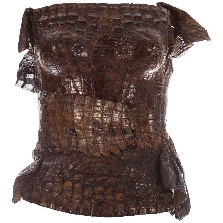 Crocodile Bustier by Roberto Cavalli, available on glokos.com for $60000 Kim Kardashian Top Exact Product
