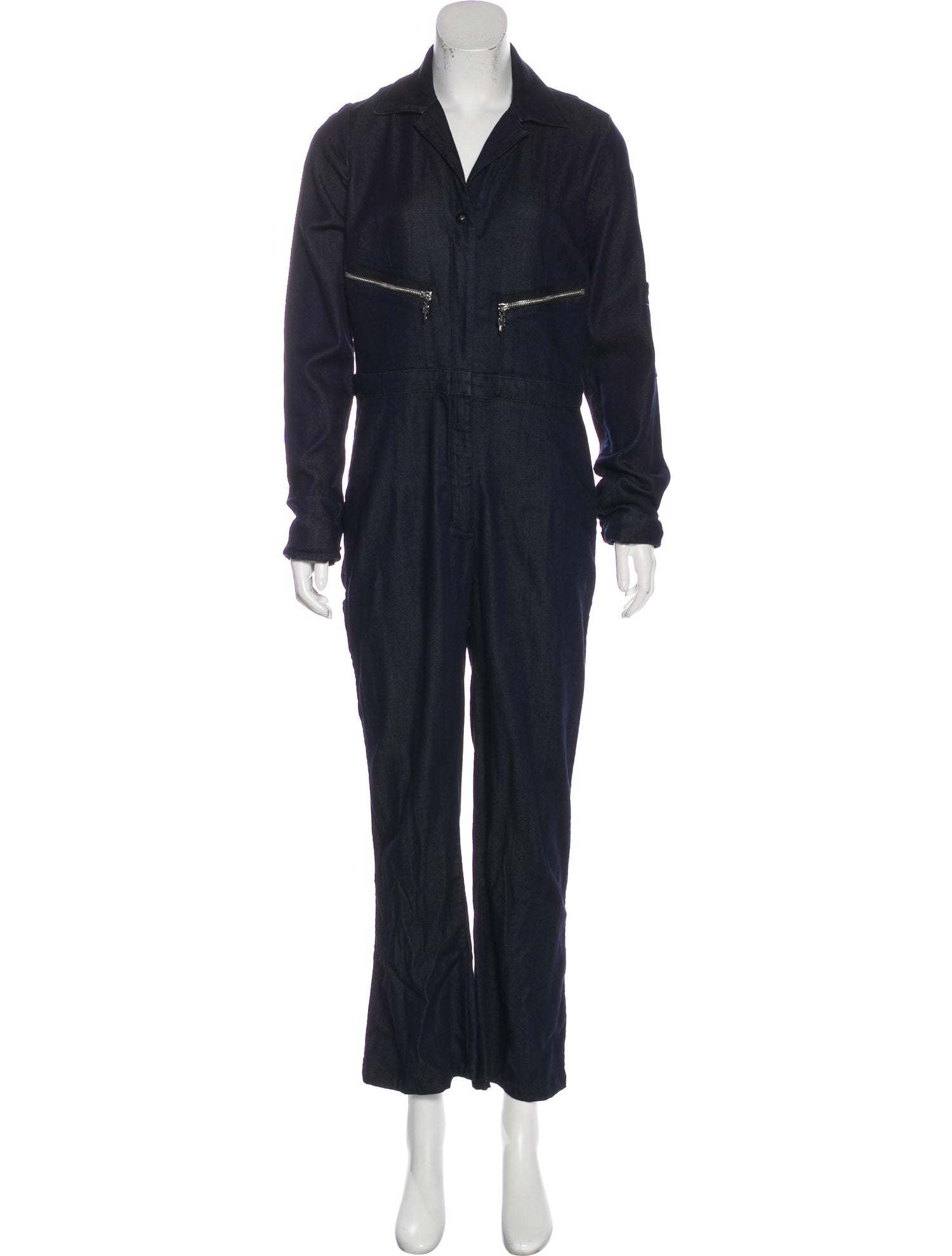Denim Wide-Leg Jumpsuit by CHROME HEARTS, available on therealreal.com for $275 Kim Kardashian Dress Exact Product