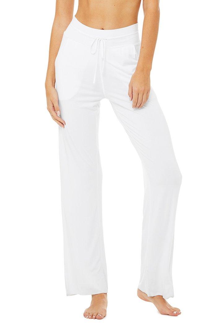 Extreme High-Waist Easy Cinch Pant - White by Alo Yoga, available on aloyoga.com for $88 Kim Kardashian Pants SIMILAR PRODUCT