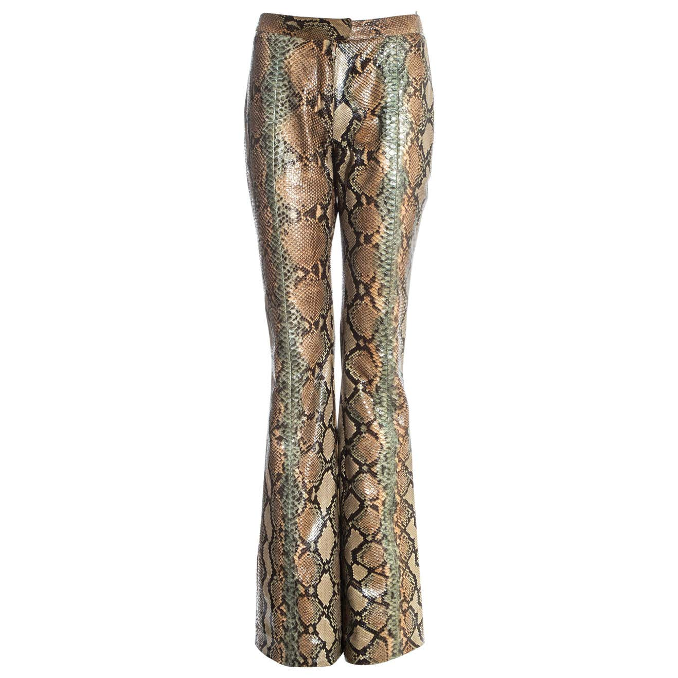 Gucci by Tom Ford tan python leather flared pants, ss 2000 by Gucci, available on 1stdibs.com for $9496.19 Kim Kardashian Pants Exact Product