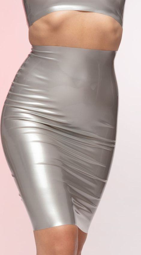 Latex Pencil Skirt by Yeezy, available on wovostore.com for £65 Kim Kardashian Skirt Exact Product