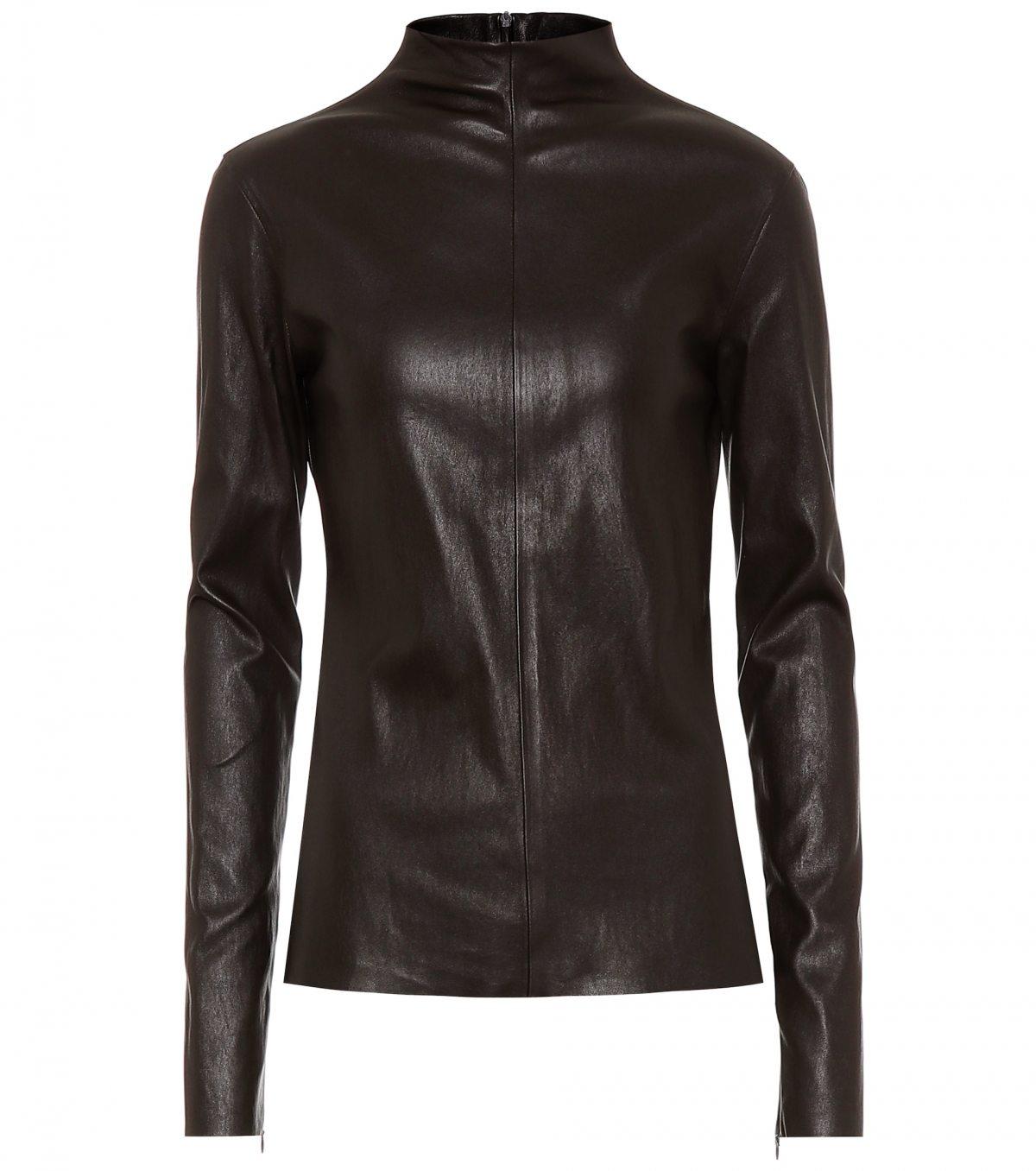 Leather Top by Bottega Veneta, available on mytheresa.com for EUR1639 Kim Kardashian Top Exact Product