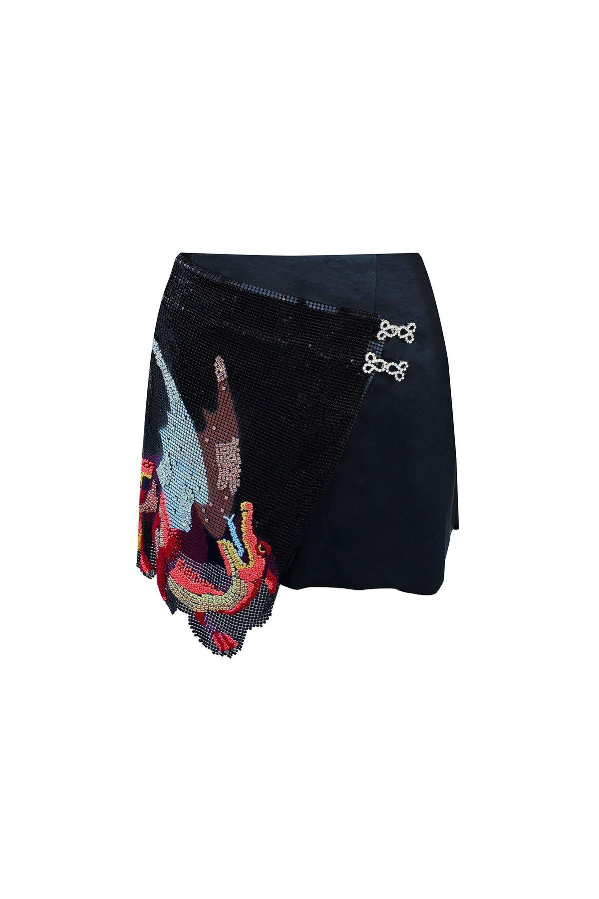 Leo Skirt by Clio Peppiatt, available on cliopeppiatt.co.uk for EUR475 Kim Kardashian Skirt Exact Product
