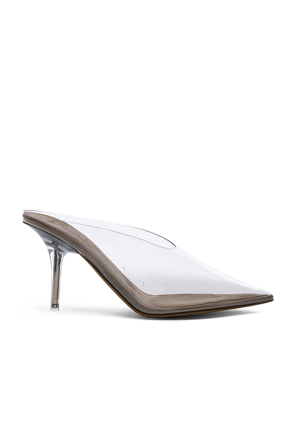 Mule PVC Clear by Yeezy, available on fwrd.com for $518 Kim Kardashian Shoes Exact Product