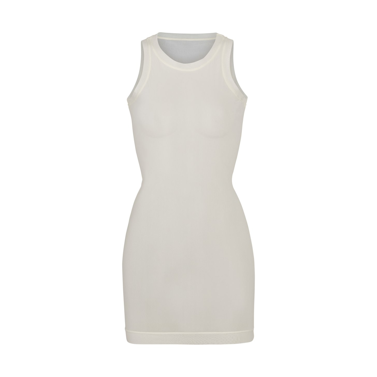 SUMMER MESH HIGH NECK TANK DRESS by Skims, available on skims.com for $76 Kim Kardashian Dress Exact Product