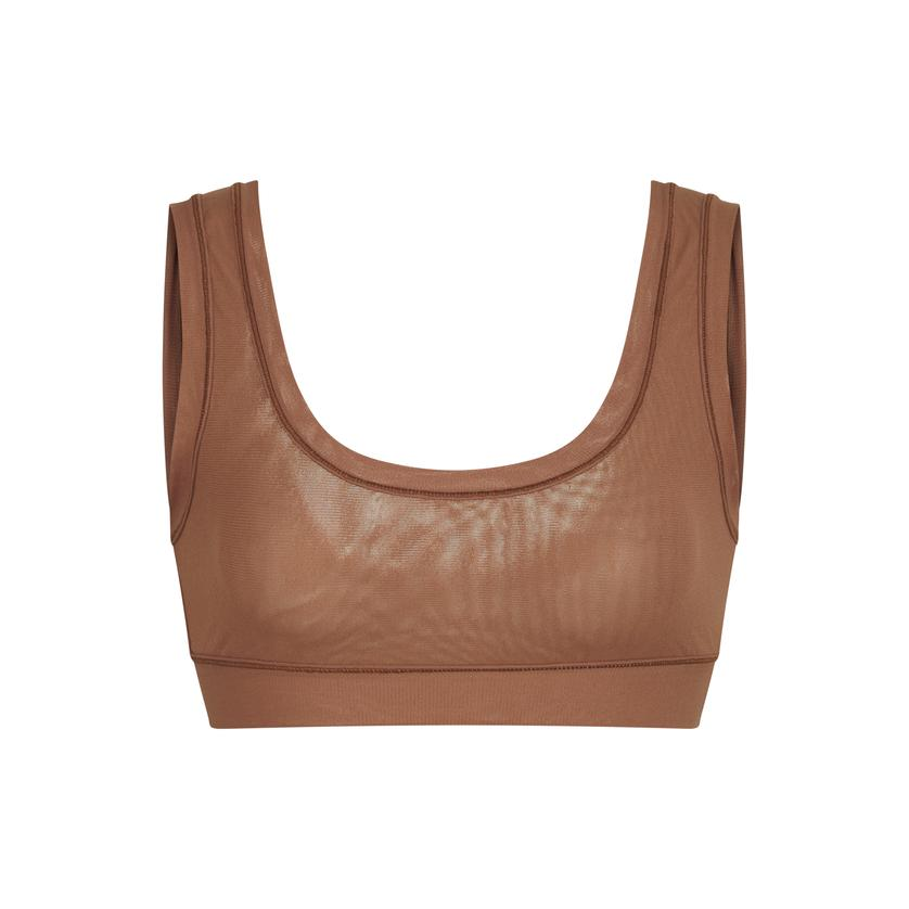 SUMMER MESH SCOOP BRALETTE by Skims, available on skims.com for $38 Kim Kardashian Top Exact Product