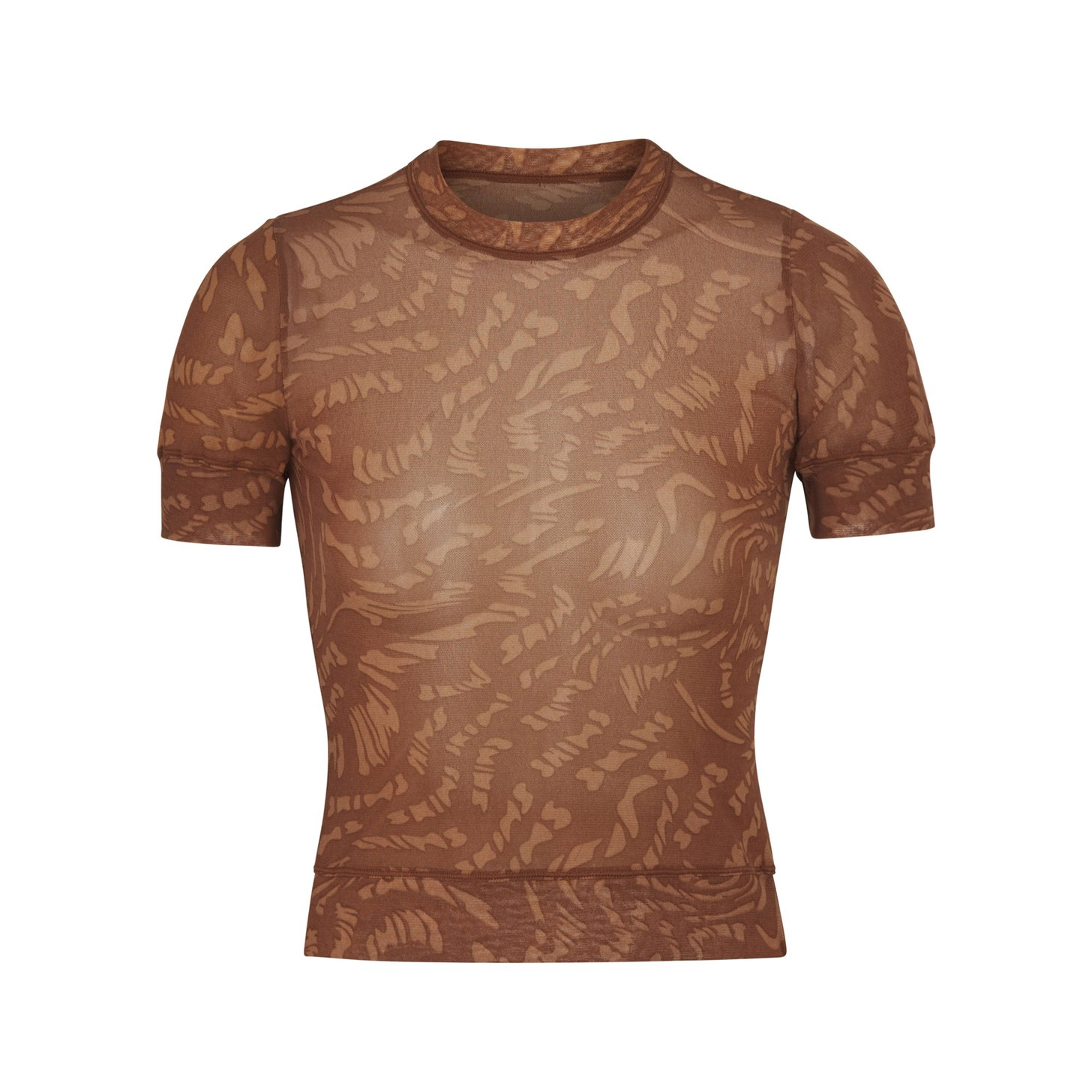 SUMMER MESH T-SHIRT by Skims, available on skims.com for $51 Kim Kardashian Top Exact Product
