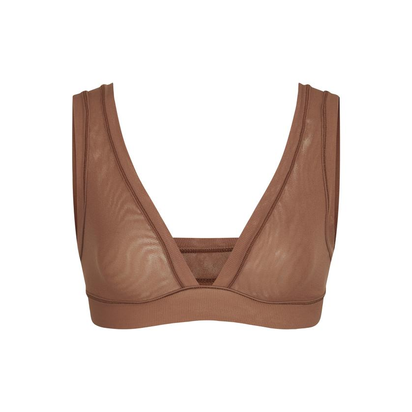 SUMMER MESH TRIANGLE BRALETTE by Skims, available on skims.com for $38 Kim Kardashian Top SIMILAR PRODUCT