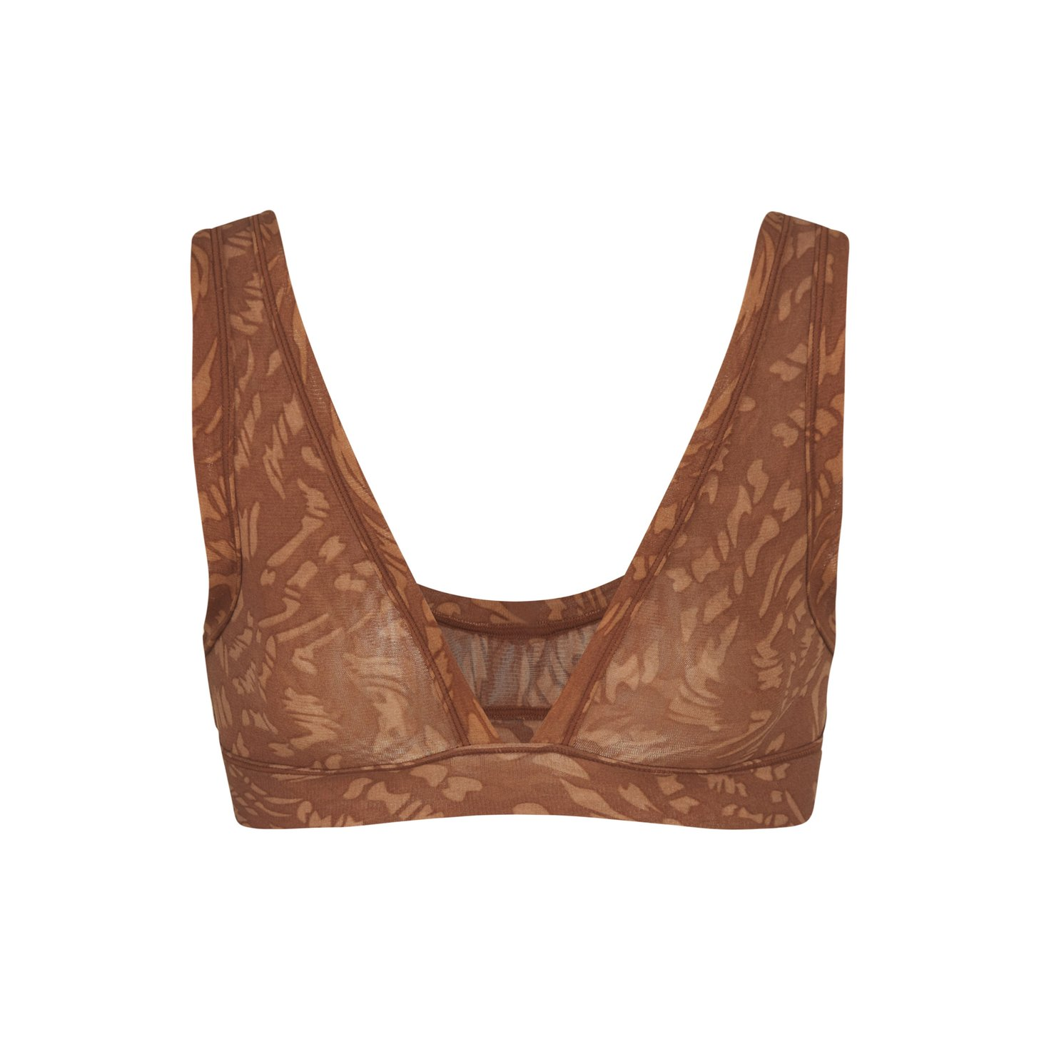 SUMMER MESH TRIANGLE BRALETTE by Skims, available on skims.com for $40 Kim Kardashian Top Exact Product