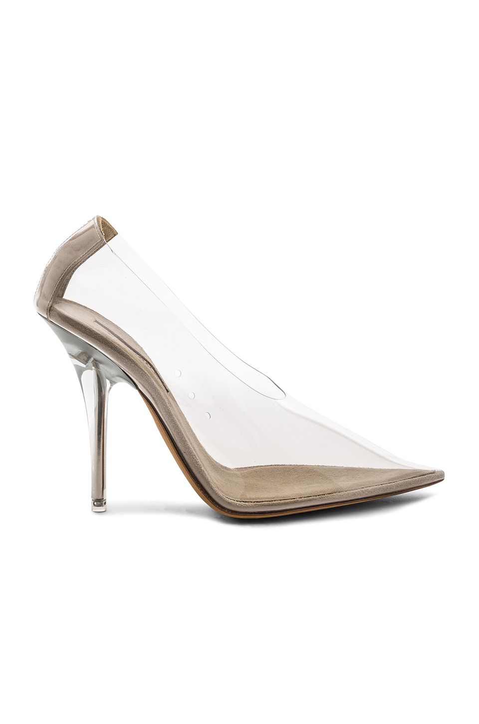 Season 5 PVC Pumps in Clear by Yeezy, available on revolve.com for $650 Kim Kardashian Shoes Exact Product