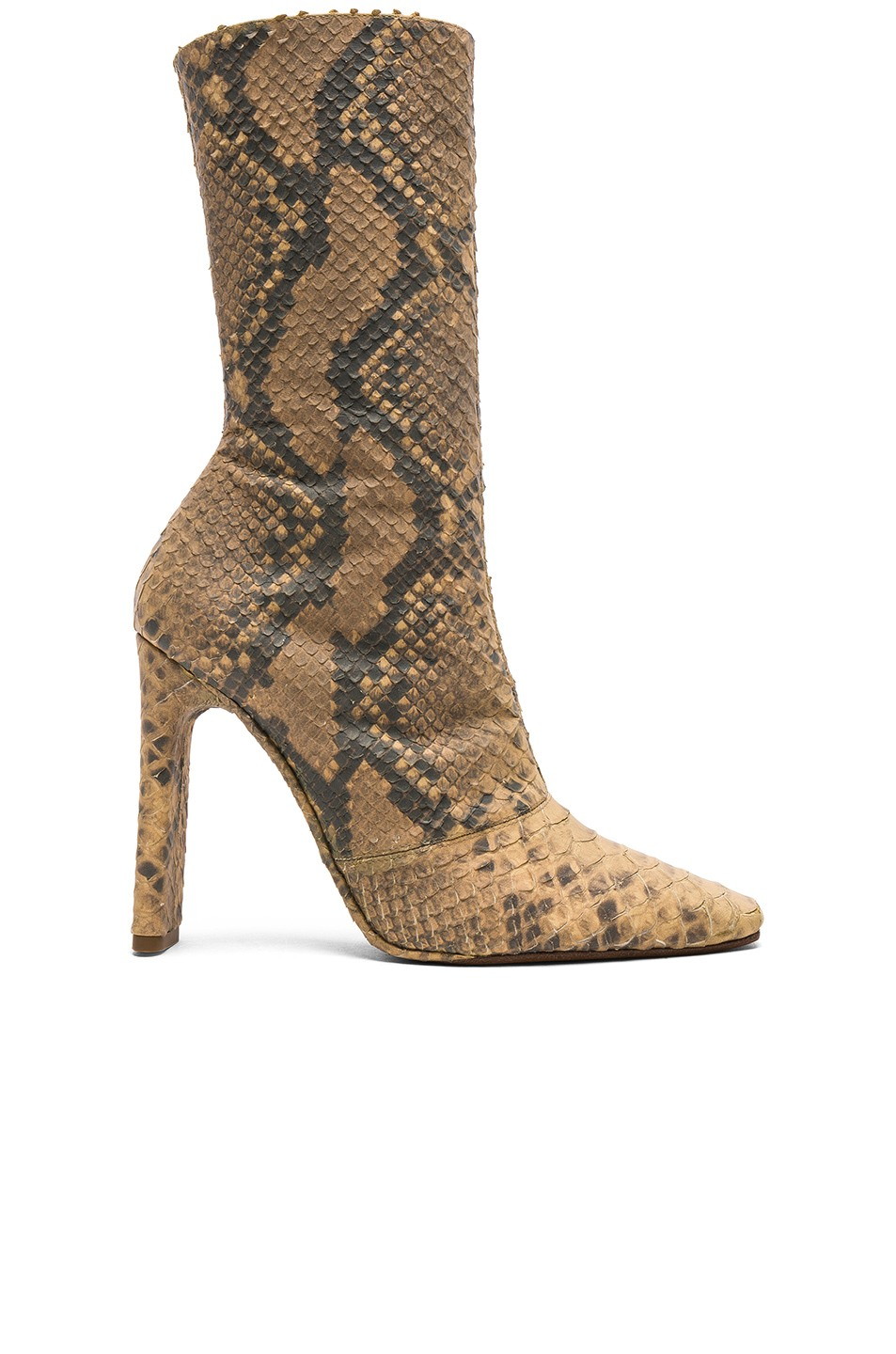 Season 6 Ankle Boots in Python Dark by Yeezy, available on fwrd.com Kim Kardashian Shoes Exact Product