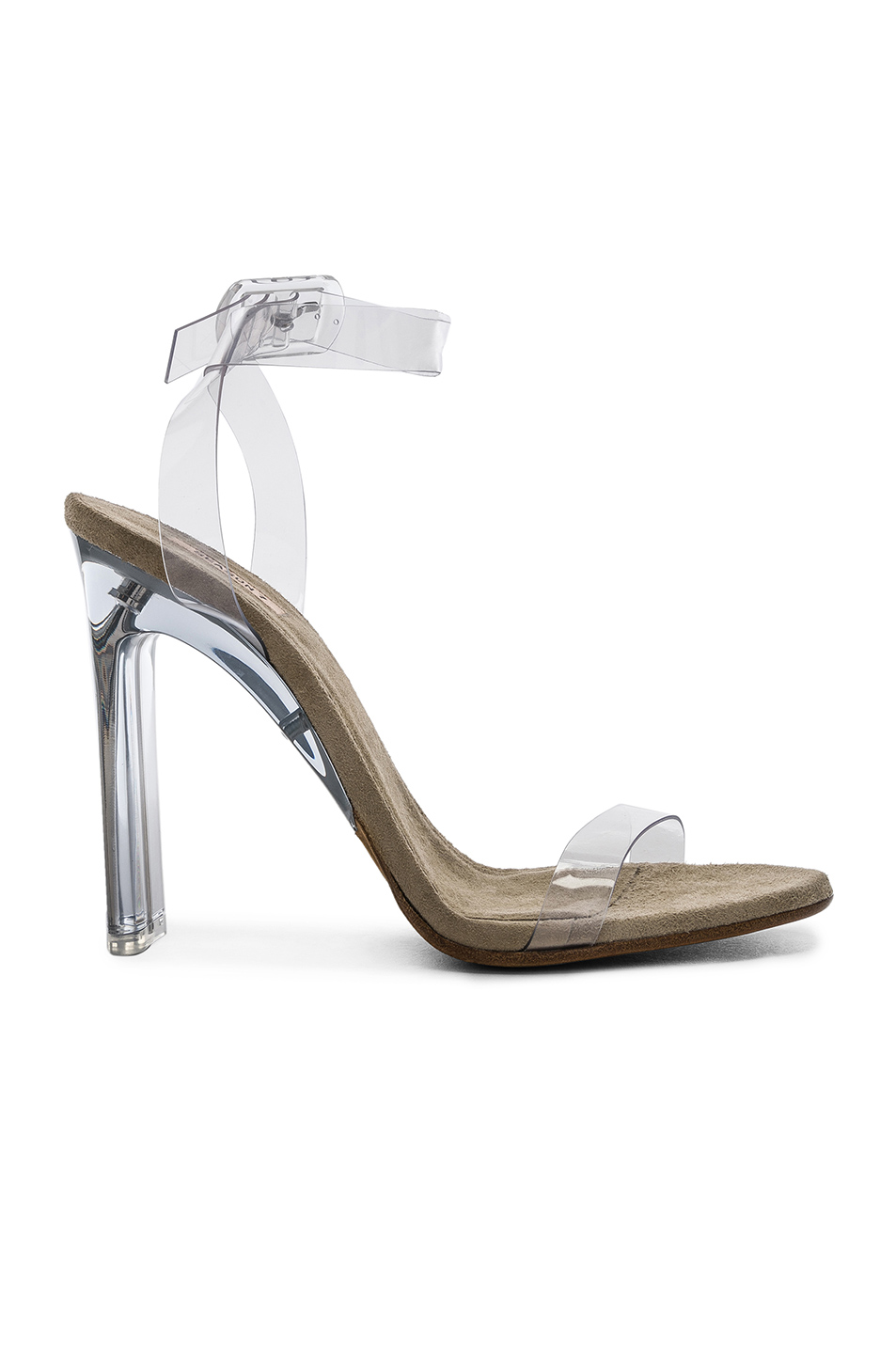 Season 6 Ankle Strap PVC Heels by Yeezy, available on fwrd.com for $588 Kim Kardashian Shoes Exact Product