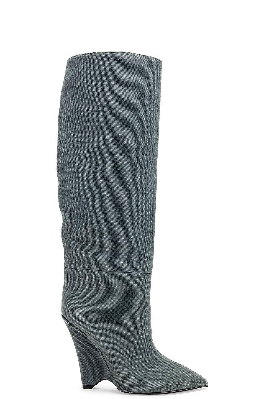 Season 8 Wedge Knee High Boot by Yeezy, available on fwrd.com Kim Kardashian Shoes Exact Product
