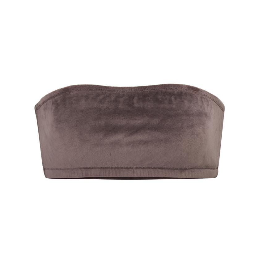 VELOUR BANDEAU by Skims, available on skims.com for $45 Kim Kardashian Top SIMILAR PRODUCT