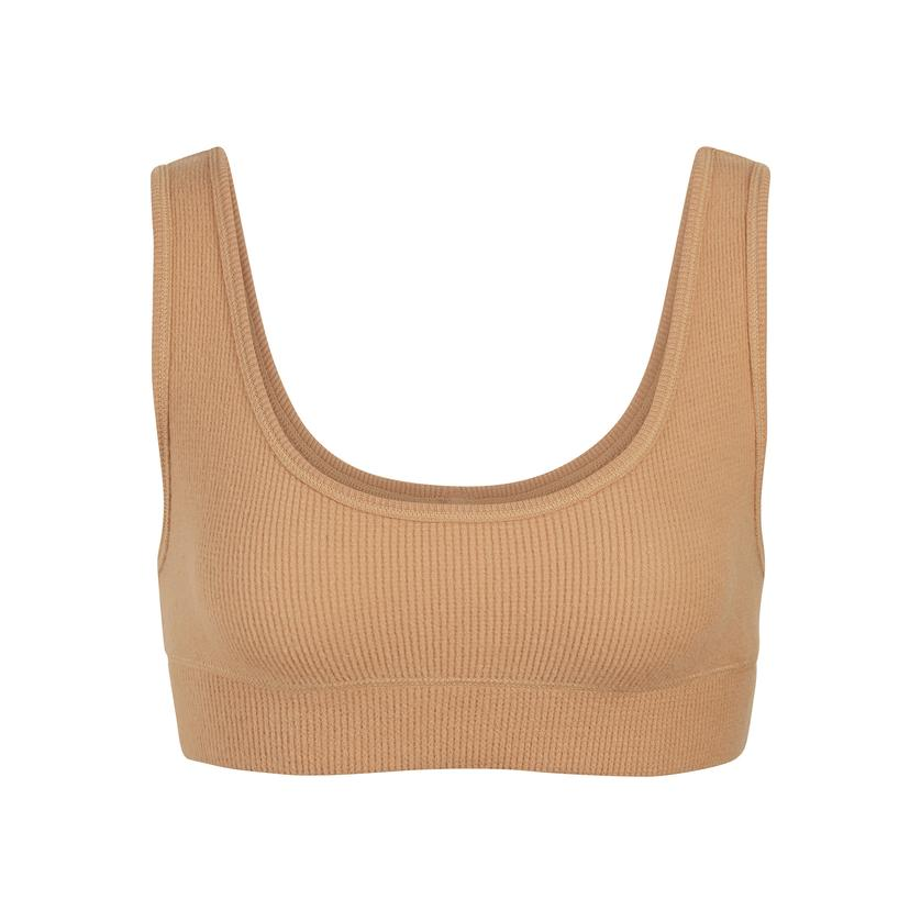 WAFFLE SCOOP BRA by Skims, available on skims.com for $38 Kim Kardashian Top SIMILAR PRODUCT