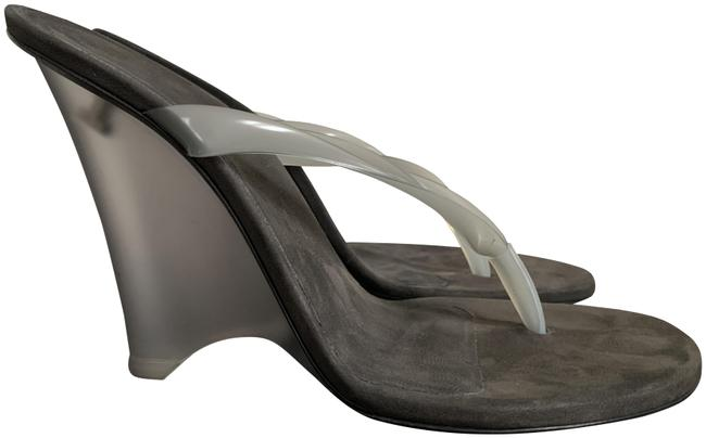 Wedge Thong Sandals Pumps by YEEZY, available on tradesy.com for $469.99 Kim Kardashian Shoes Exact Product