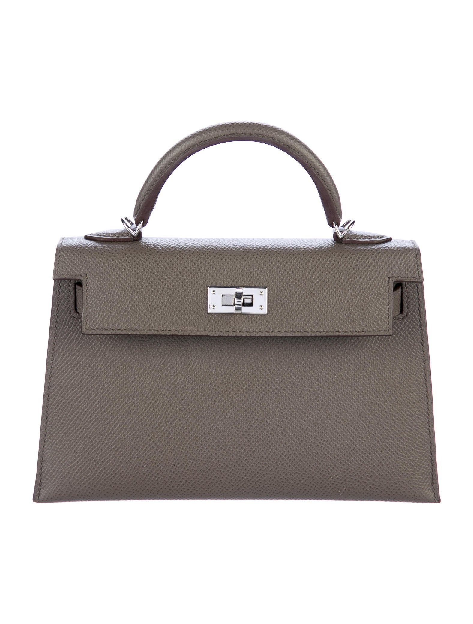 2017 Mini Kelly Sellier II 20 by Hermes, available on therealreal.com for $18000 Kourtney Kardashian Bags Exact Product