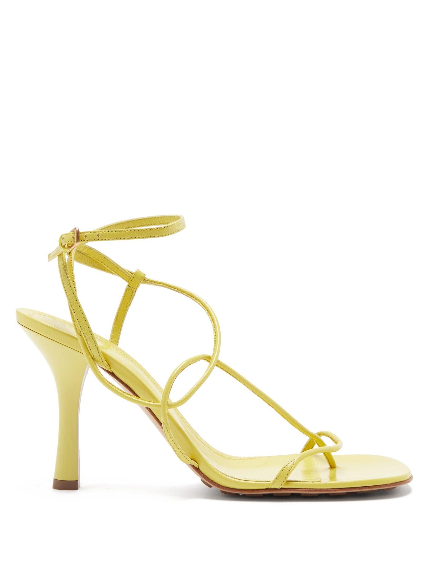 BV Line square-toe leather sandals by Bottega Veneta, available on matchesfashion.com for $930 Kourtney Kardashian Shoes Exact Product