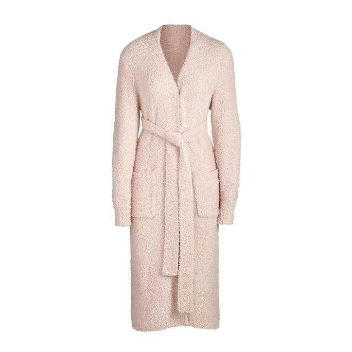 COZY KNIT ROBE by Skims, available on skims.com for $128 Kourtney Kardashian Outerwear Exact Product