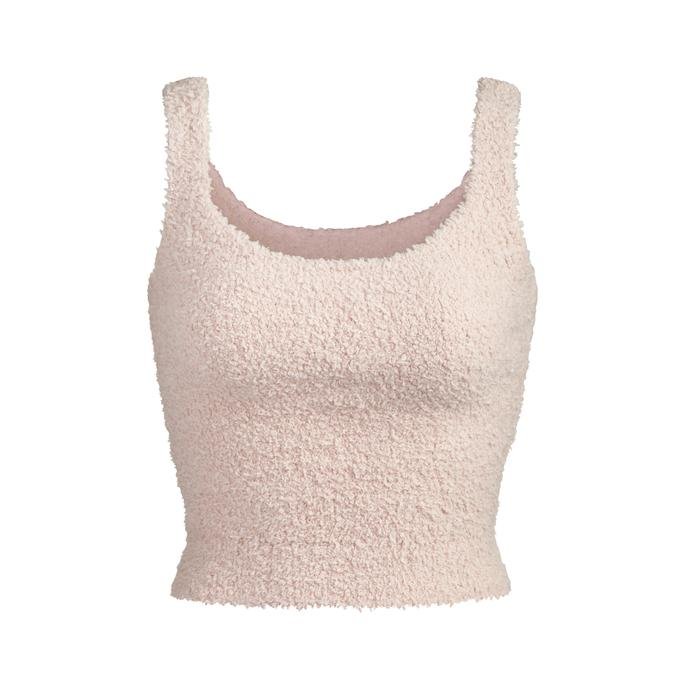COZY KNIT TANK by Skims, available on skims.com for $52 Kourtney Kardashian Top Exact Product