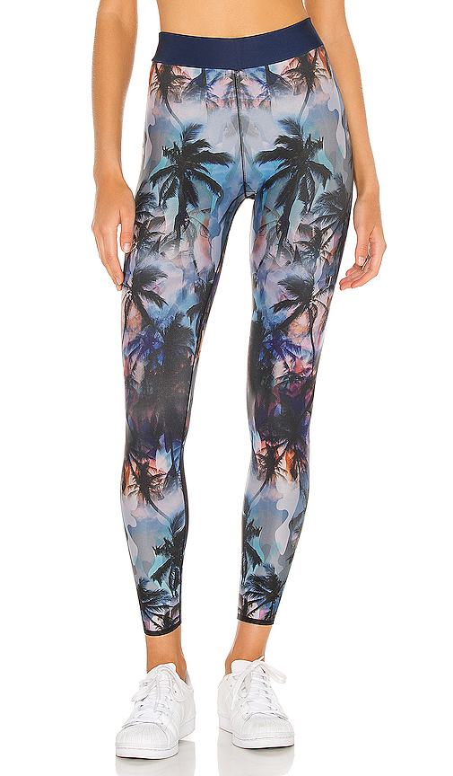 Camo Palm Legging by cor designed by ultracor, available on revolve.com for $130 Kourtney Kardashian Pants SIMILAR PRODUCT