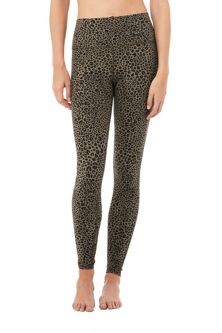 High-Waist Vapor Leopard Legging by Alo Yoga, available on aloyoga.com for $128 Kourtney Kardashian Pants SIMILAR PRODUCT