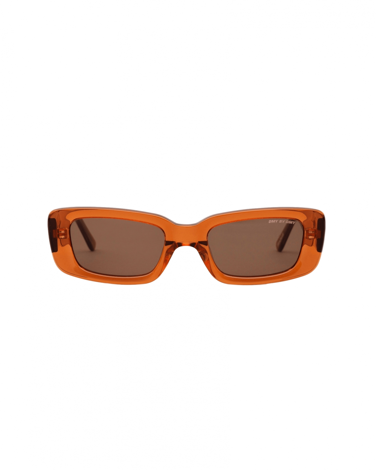 PRESTON (TRANSPARENT AMBER) Rectangular sunglasses handcrafted from Italian acetate and featuring soft brown l by DMY BY DMY, available on dmybydmy.com for BPS140 Kourtney Kardashian Sunglasses Exact Product